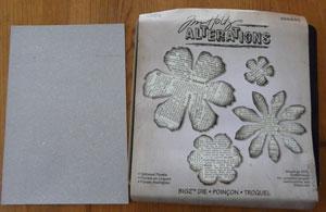 plaque floral de tim holtz