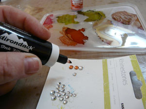 alcohol ink et bling ou bijou