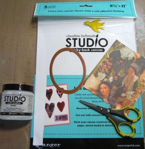 matériel scrapbooking transfert d'images sur canvas