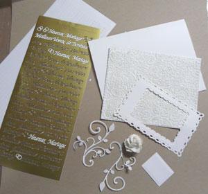 réalisation tutoriel carte mariage scrapbooking