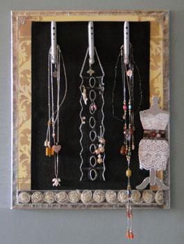 projet scrapbooking toile à bijoux