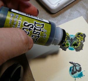 distress stain peeled paint pour colorier