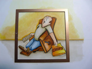 Spellbinders carré et étampe Art Impression Lazy boy