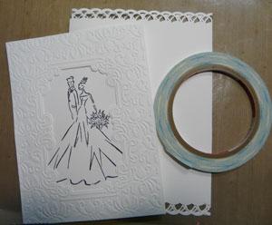 carte pour les mariés