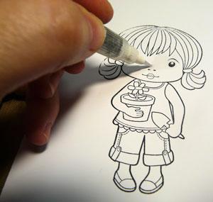 crayon eau - water brush