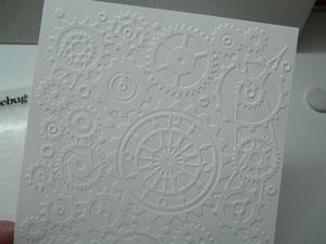 papier embosser avec cuttlebug ou vagabond