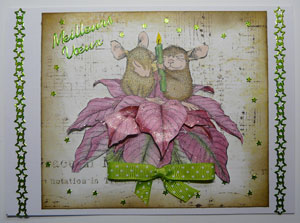 carte étampe house mouse