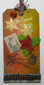 étiquette cadeau vintage