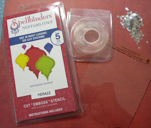 matériel scrapbooking carte shaker box