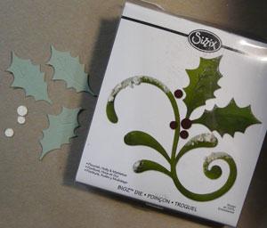 Matrice Sizzix Bigz Holly & Mistletoe Flourish