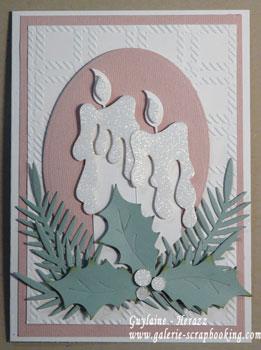Carte de Noël technique Glitter Ritz et découpe Dee's