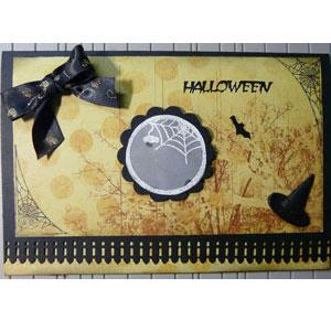 carte halloween scrapbooking