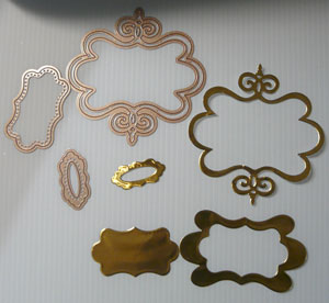 Spellbinders Twisted metal Tags & Accents
