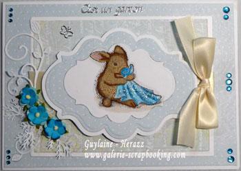 carte de bébé - house mouse blanky
