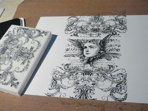 Étampe Lablanche Victorian Swirl, Stonework et Winged Collage