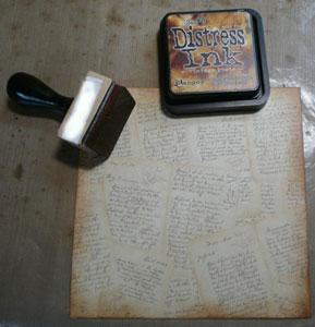 Carte scrapbooking vintage distress