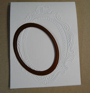 Spellbinders oval et carte scrapbooking