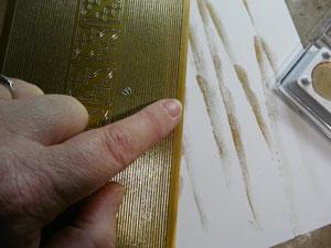 Peel off et Metallic rub-on