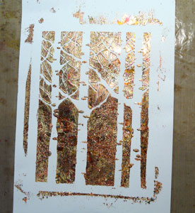 tutoriel gilding flakes