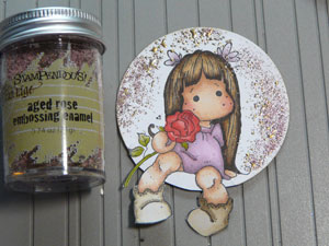 Stampendous Embossing Enamel Ages Rose