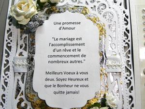Mariage - tutoriel d'un modèle de carte