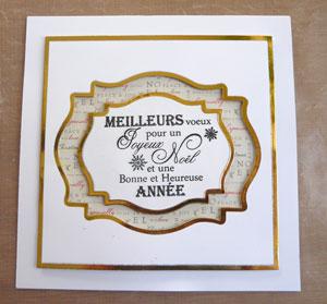 Carte de Noël Atelier scrapbooking