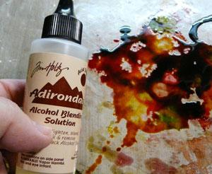 carte avec alcohol ink