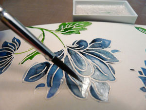 Perlescent aquarelle Gansai Tambi