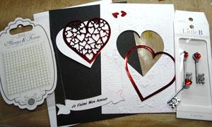montage carte Saint-Valentin Herazz