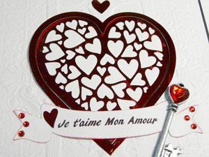 coeur de St-Valentin - Carte tutoriel