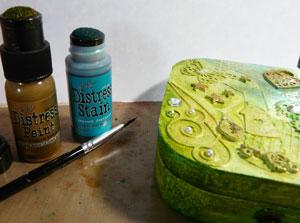 Distress paint et distress stain