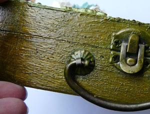Distress pain tarnished brass
