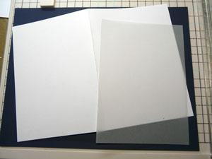 Carte avec étampe et encre Altenew