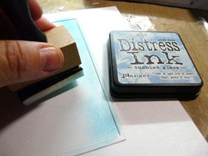 Encre distress Tumbled Glass et applicateur Distress ink