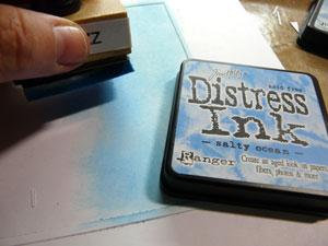 Encre distress Salty Ocean et applicateur Distress ink