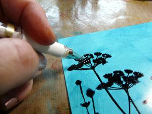 Archival ink et stylo uniball blanc