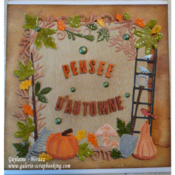 Tutoriel de carte scrapbooking automne