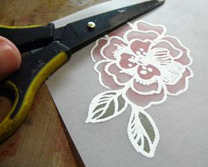 fleur sur vélin ou vellum
