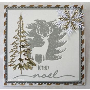 Belle Tutoriel Carte de Noël - Technique Encre Distress Oxide KM-29