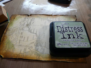 encre distress Bundle Sage