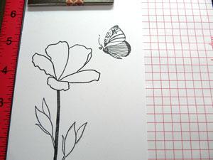 Étampe Altenew Botanical Garden, papillon