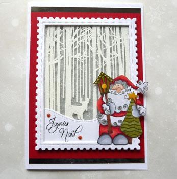 Carte de Noël   Embossage