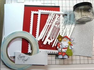 Carte de Noël 3D shaker box