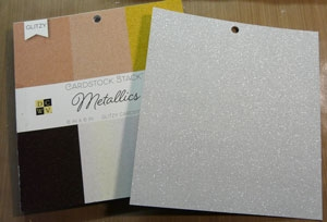 Papier Métallique Glitter DCWV 6 x 6 pouces