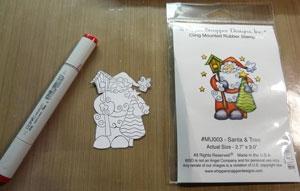 Étampe Whipper Snapper Santa & Tree