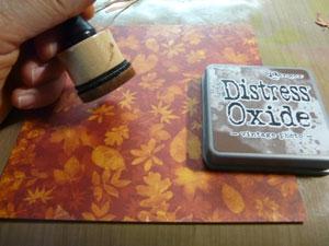 Encrez les papiers avec encre Distress oxide