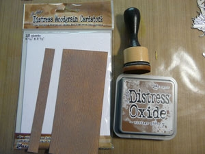 Distress Wood Grain Cardstock