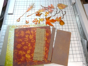 Montage de carte d'automne