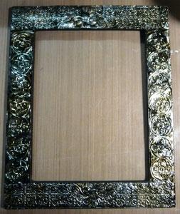 Tutoriel cadre avec papier métallique ( foil sheet)