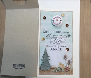 Carte de Noel accroche Bouteille de vin